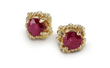 Cluster Earrings Large - rubies