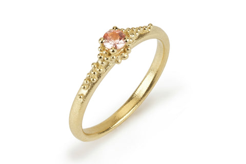 Cluster Ring - Peach Sapphire
