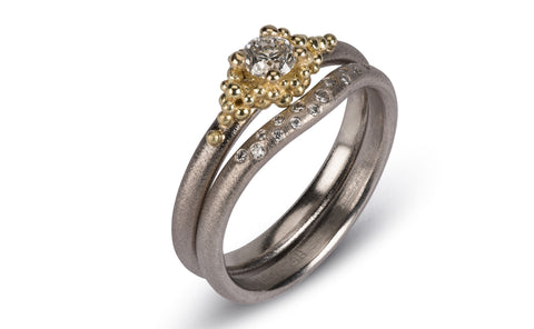 Diamond Contour Ring