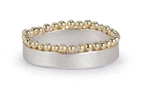 Crown Ring - silver and gold