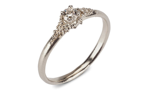Cluster Diamond Ring - 9ct white gold