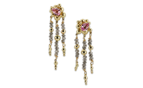 40. Sapphire & Diamond Earrings