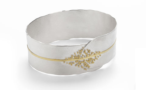 Granulated Cuff - silver & gold