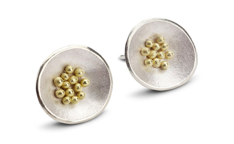 Adorn Granulated Earrings - large
