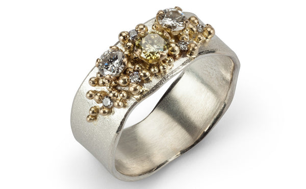 23. Bespoke yellow diamond ring