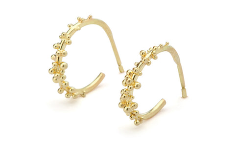 Granule Hoops - 18ct gold