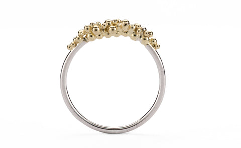 Granule Ring - silver and gold