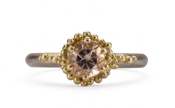 Morganite Cluster Ring