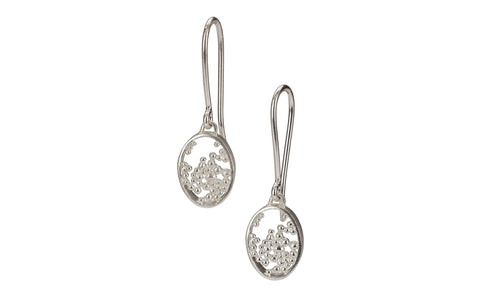 Oval Frame Drop Earrings