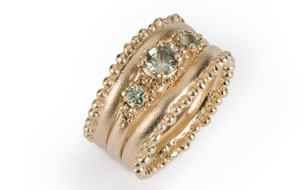 31. Cluster and Crown Ring Set