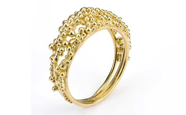 Scattered Granule Ring - gold