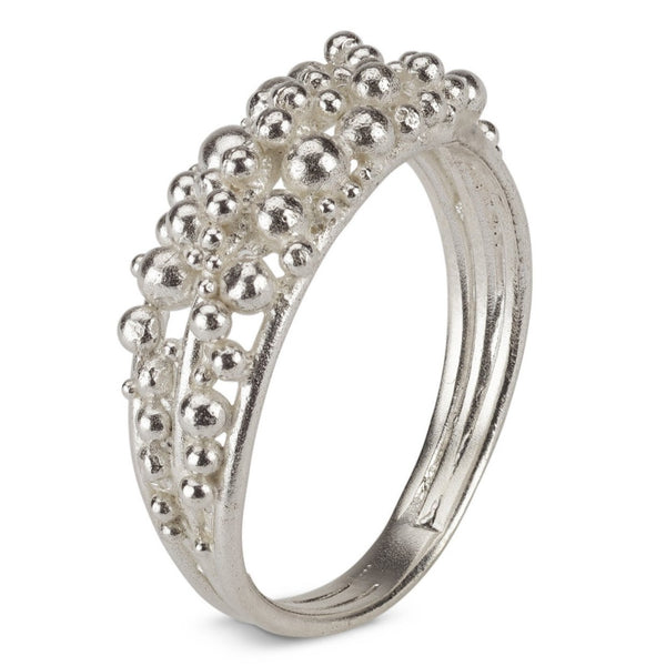 Scattered Granule Ring - silver