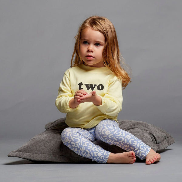 Age Long Sleeve T-Shirt in Sherbert (1-4yrs)