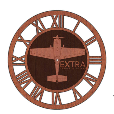 Custom Laser Engraved Aircraft Clock