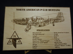 North American P-51D Mustang Desktop Engraving
