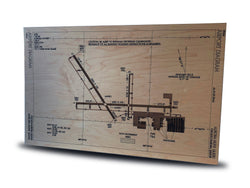 Laser Engraved Airport Diagram