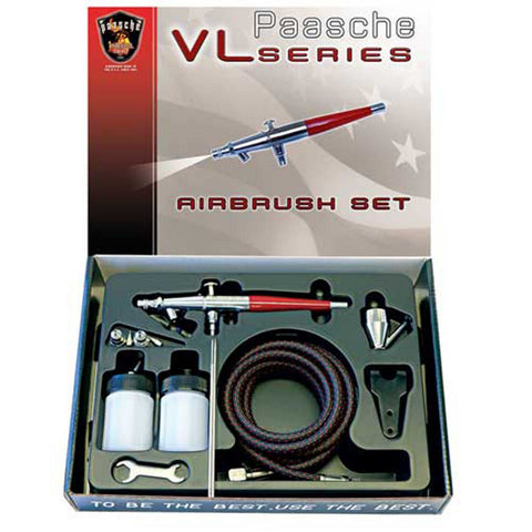 VL Double Action Siphone Feed Airbrush Set PASVLSET
