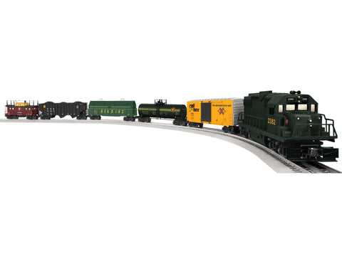 6-82436 PENNSYLVANIA LIONCHIEF REMOTE KEYSTONE DELUXE GP38 FREIGHT SET