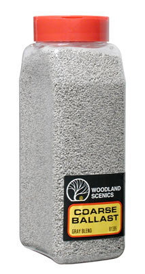 Woodland Scenics Ballast Coarse Gray Blend 32 oz B1395