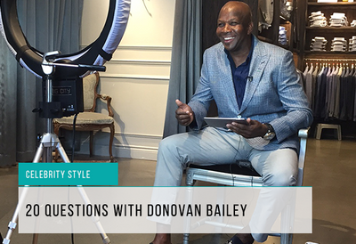 20 Questions with Donovan Bailey