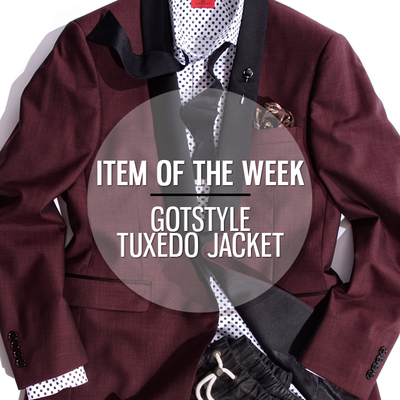 ITEM OF THE WEEK: GOTSTYLE BURGUNDY TUXEDO JACKET