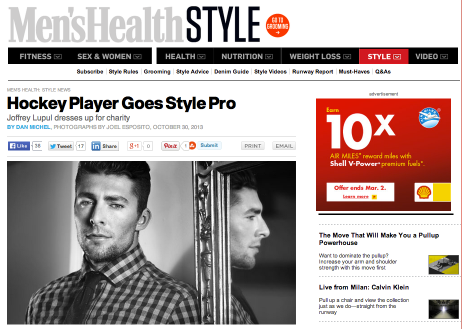 Men's Health Features Joffrey Lupul x Gotstyle Collaboration