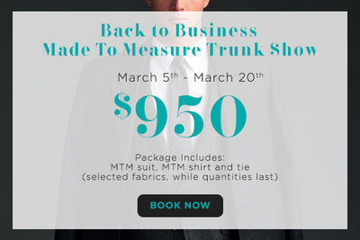 Get a made to measure suit, shirt, and tie for $950