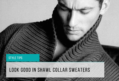 How to Wear Shawl Collar Sweaters
