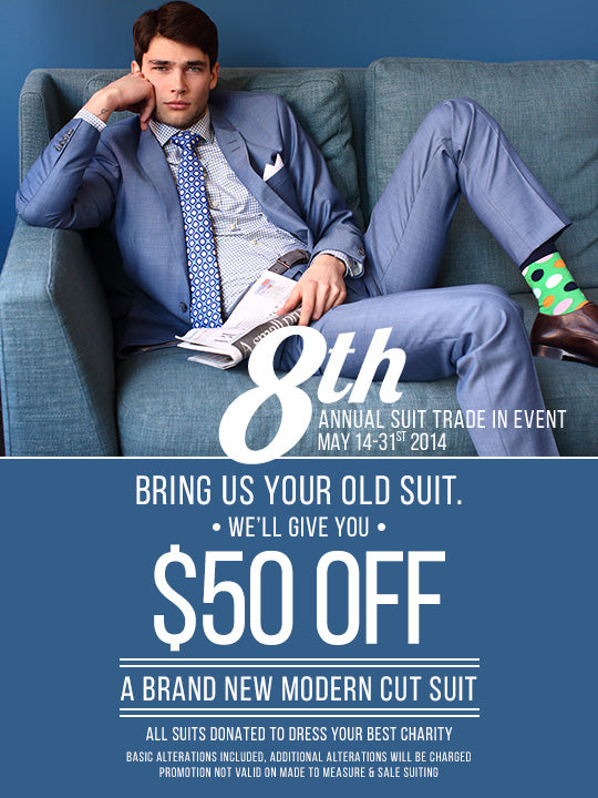 Suit Trade-In Event Is Back!