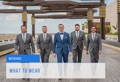 What should a groom wear to a wedding?