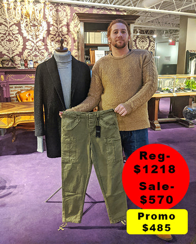 Brandon with his sale outfit choice