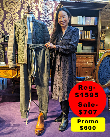 Melissa wit her sale outfit choice