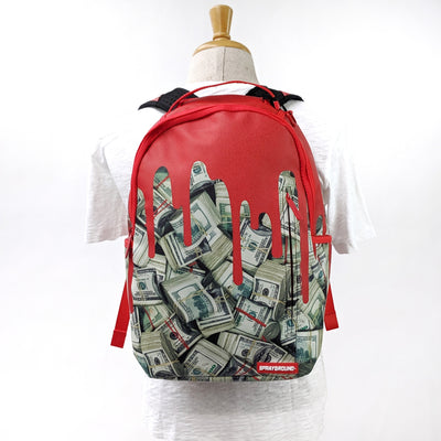 Gotstyle - Sprayground Bags Backpack with Multiple Pockets, Mesh Padding - Money Drips