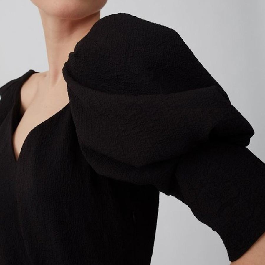 Just Female Tops Bonnie Voluminous 3/4 Sleeve Blouse - Gotstyle The Menswear Store
