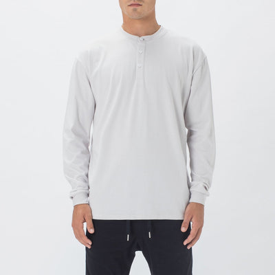 Gotstyle - Zanerobe Henleys Henley Long Sleeve Tee - Light Grey