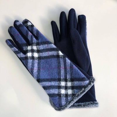 Gotstyle - Venera Gloves Tartan Cotton Gloves - Blue