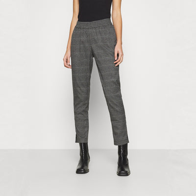 Gotstyle - Just Female Pants Glen Plaid Elastic Waist Trousers