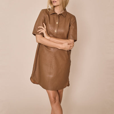 Gotstyle - Mos Mosh Dresses Soft Leather Relaxed Dress