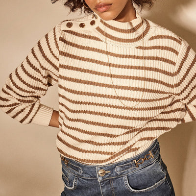 Gotstyle - Mos Mosh Sweaters High Neck Stripe Sweater