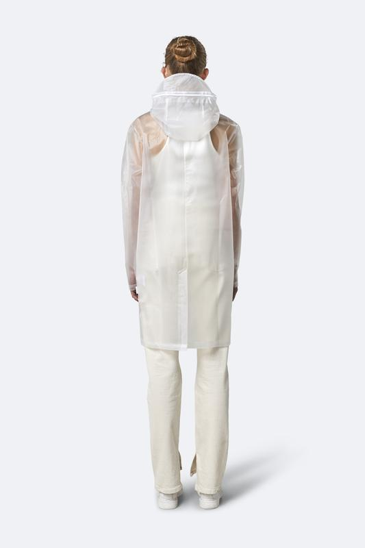 Transparent Hooded Rain Coat - Foggy White - Gotstyle The Menswear Store