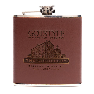 Gotstyle Gifts Genuine Leather Wrap Hip Flask - Gotstyle The Menswear Store