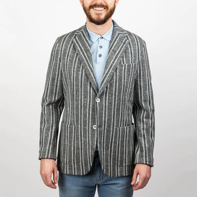 Stripe Patch Pocket Jersey Blazer - Gotstyle The Menswear Store