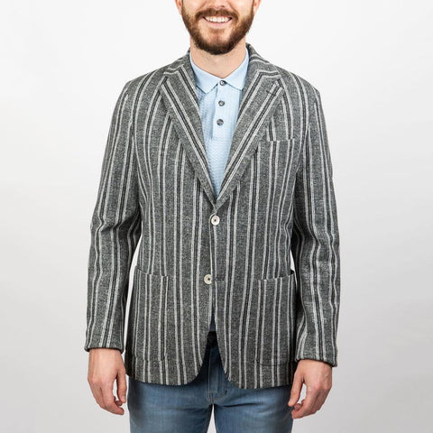 Circolo 1901 MS - Blazers Stripe Patch Pocket Jersey Blazer - Gotstyle The Menswear Store