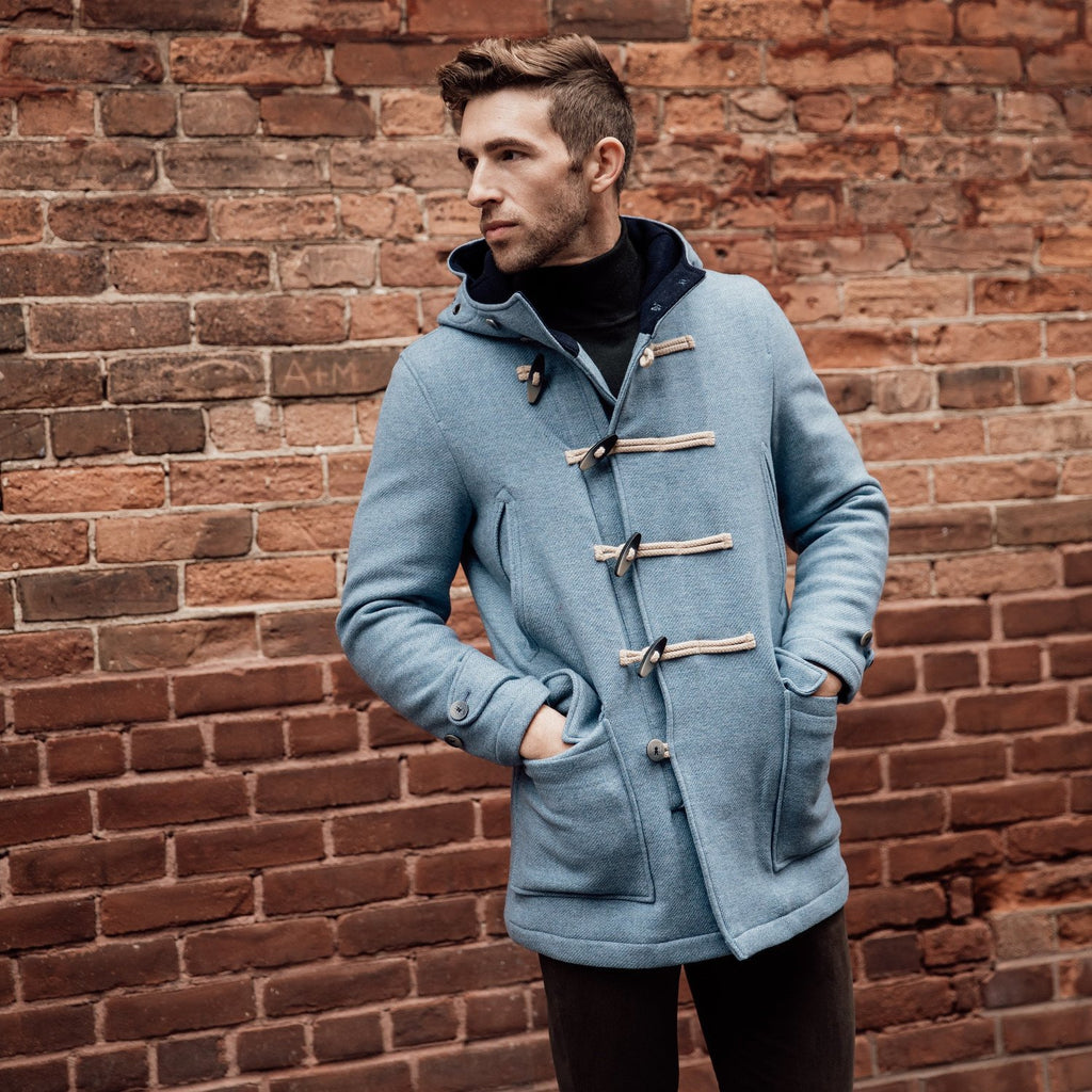 Camplin MS - Outerwear - Winter Camplin - Atlantic Duffle Toggle / Zip Rain Resistant Wool w Hood - Gotstyle The Menswear Store