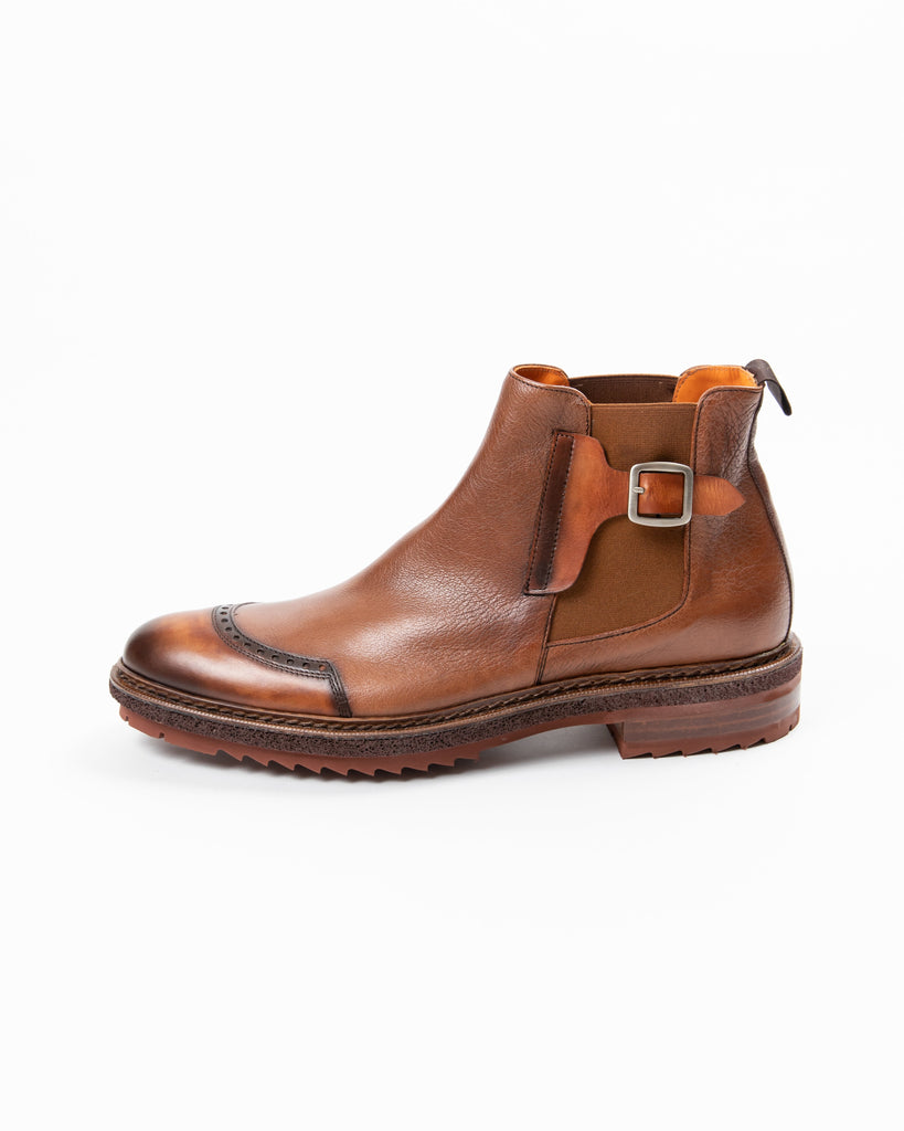 Calce MF - Dress Shoes Calce - Chelsea Buckle Leather Boot - Gotstyle The Menswear Store