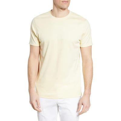 Gotstyle - Robert Barakett T-Shirts Soft Pima Cotton Crew Tee - Pale Yellow