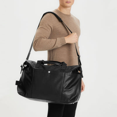Gotstyle - Matinique Bags Leather Weekender Bag - Black