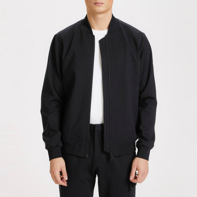 Gotstyle - Matinique Jackets Pinstripe Zip-Up Jersey Bomber