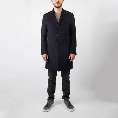 0909 Jackets Wool/Cashmere Meida Insulated Overcoat - Gotstyle The Menswear Store