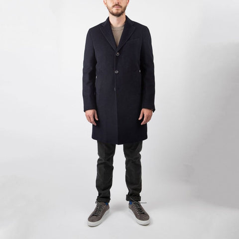 0909 MS - Outerwear - General Wool/Cashmere Meida Insulated Overcoat - Gotstyle The Menswear Store